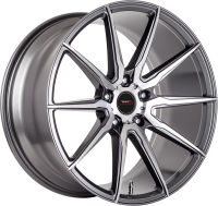Baltic - Gun Metal Machined Face - 19 x 8.5 Front, 19 x 9.5 Rear