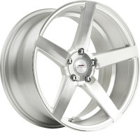 Claw - Super Silver Machined Face - 19 x 8.5, 20 x 9 Front, 20 x 10.5 Rear