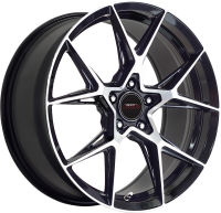 Exile - Black Machined Face - 18 x 8, 19 x 8.5