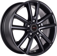 Perez - Satin Black - 16 x 6.5, 17 x 7.5