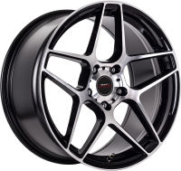 Traction - Black Machined Face - 18 x 8, 18 x 8 Front, 18 x 9 Rear